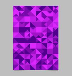 Geometrical polygonal triangle mosaic page vector
