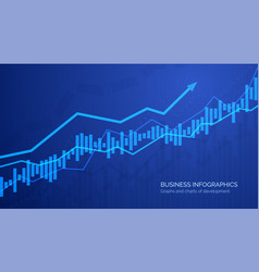 graph chart stock market investment trading vector image