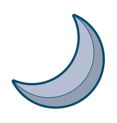 half moon night celestial natural image vector image