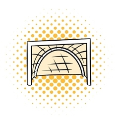 Hockey gates icon comics style vector