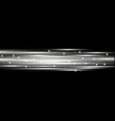 Horizontal lens flares lights white color vector