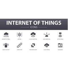 Internet things simple concept icons set vector