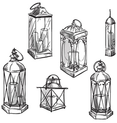 lanterns vector image