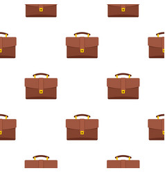 Leather briefcase pattern seamless vector