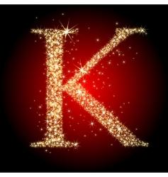 letter star k vector image vector image