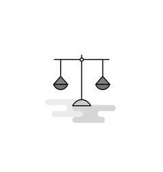 libra web icon flat line filled gray icon vector image