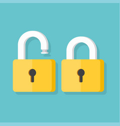 lock open and lock closed icons vector image