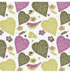 Love heart bird vector