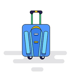 Luggage bag with wheels vector image