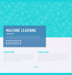 machine learning artificial intelligence concept vector image