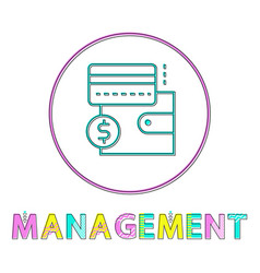 management wallet and card vector image