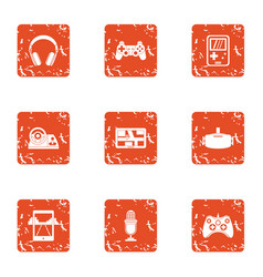 Modern automobile icons set grunge style vector
