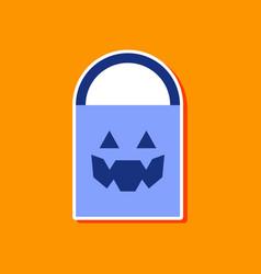 Paper sticker on stylish background halloween bag vector