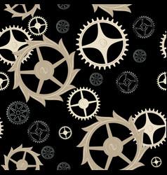 Pattern 0095 clockwork cogwheels vector