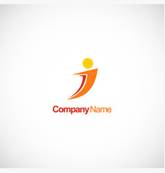 people abstract company logo vector image