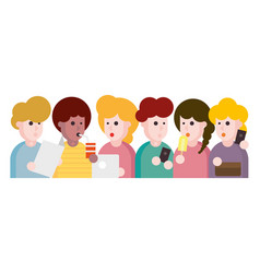 People and friends cartoon vector