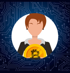 people bitcoin related vector image