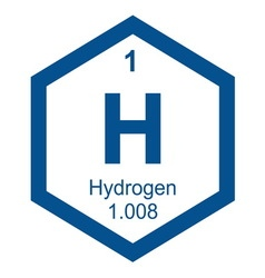 Periodic table hydogen vector image