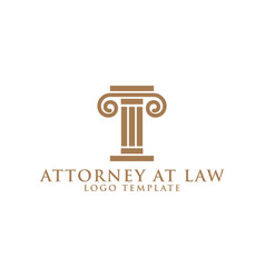 pillar element attorney at law logo design vector image