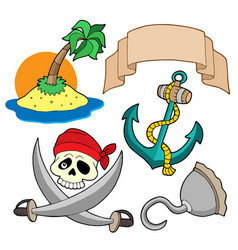 Pirate collection 4 vector