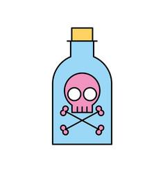 poison bottle with skull vector image