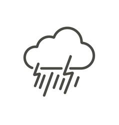 rainstorm icon line storm symbol vector image