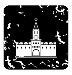 Russian Kremlin icon grunge style vector
