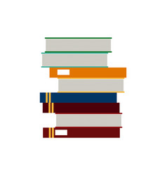 school stack book learn reading literature vector image