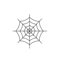 spider web of the icon bug dangerous vector image