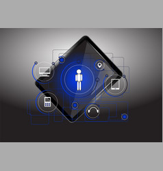 Tablet and technology icon vector