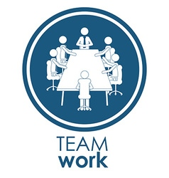 Team work different design vector
