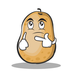 thinking potato character cartoon style vector image