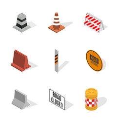 under construction design elements in 3d vector image
