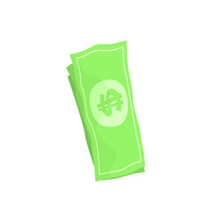 us american dollar money bills cartoon vector image