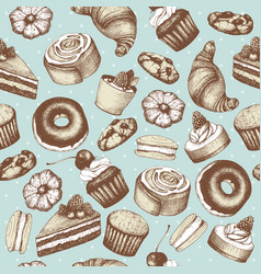 vintage bakery background vector image