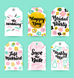 wedding greeting gift labels vector image