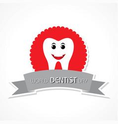 World dentist day design 6 march vector