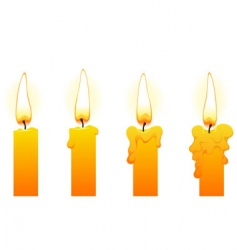 candles on white vector image vector image