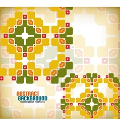 geometric vintage retro pattern background vector image