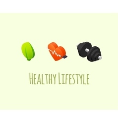 Healthy lifestyle icons vector image vector image