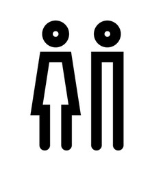 Man and women icon set vector image vector image