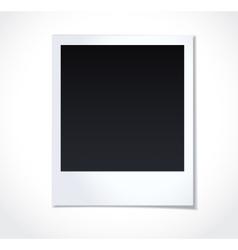 Polaroid photoframe on white background vector image