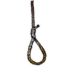 Rope noose hanging in vector
