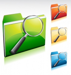 search folder vector image