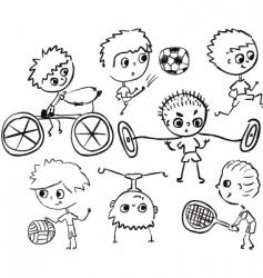 sports boy vector image vector image