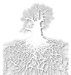 white tree vector image