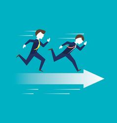 Businessman running for achievement the success vector