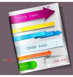 colorful bookmarks for speech vector image vector image