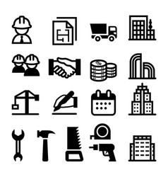 construction business icon vector image vector image