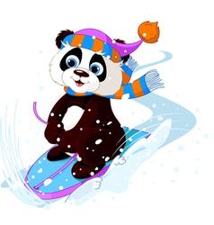 Fast fun Panda vector image vector image